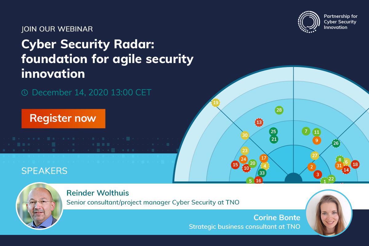 Join our webinar - Cyber Security Radar: foundation for agile security innovation